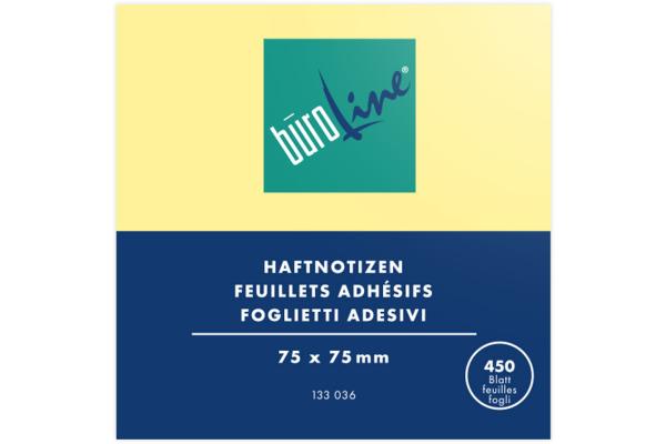 BÜROLINE Haftnotizen Cube 75x75mm 133036 gelb...