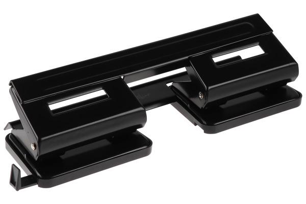 BÜROLINE Vierfachlocher 166904 schwarz 4x8cm