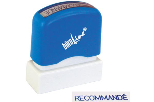 BÜROLINE Stempel Recommandé 167066 blau