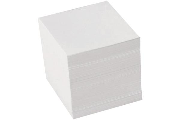 BÜROLINE Zettelbox Papier 90x90mm 196625 weiss 900 Blatt