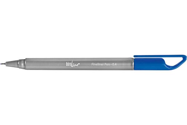 BÜROLINE Fineliner Clip 0,4mm 223073 blau