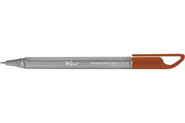 BÜROLINE Fineliner Clip 0,4mm 223077 braun