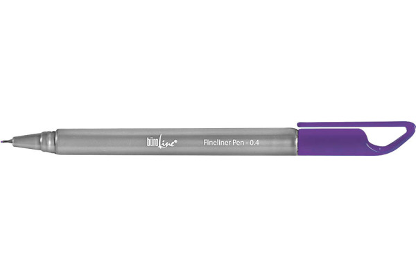 BÜROLINE Fineliner Clip 0,4mm 223078 lila