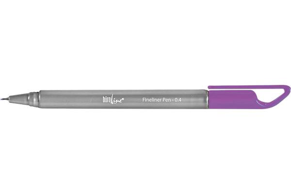 BÜROLINE Fineliner Clip 0,4mm 223081 violett