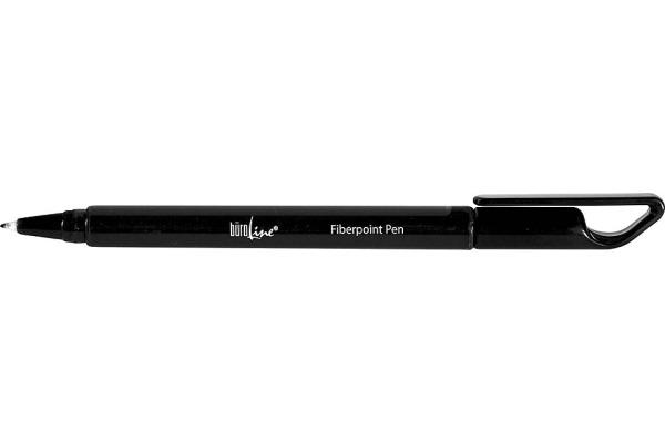 BÜROLINE Fiberpoint Pen 0,7mm 223086 schwarz