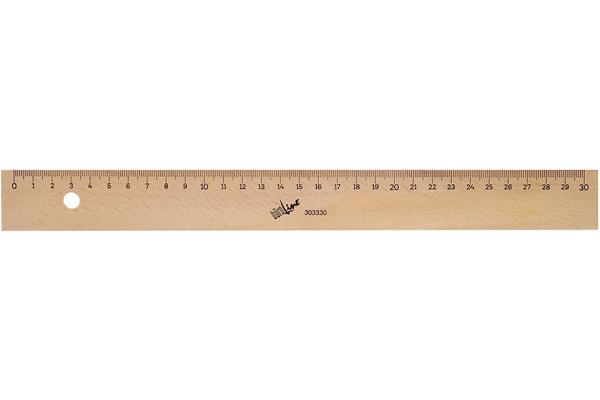 BÜROLINE Holzmassstab 30cm 303330