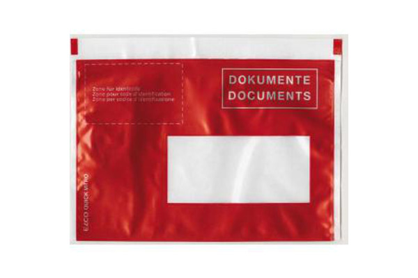 BÜROLINE Dokumententaschen rot C6 306250 mit Druck 250 Stk.