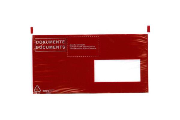 BÜROLINE Dokumententaschen C6/5 306252 schwarz/rot 250 Stück