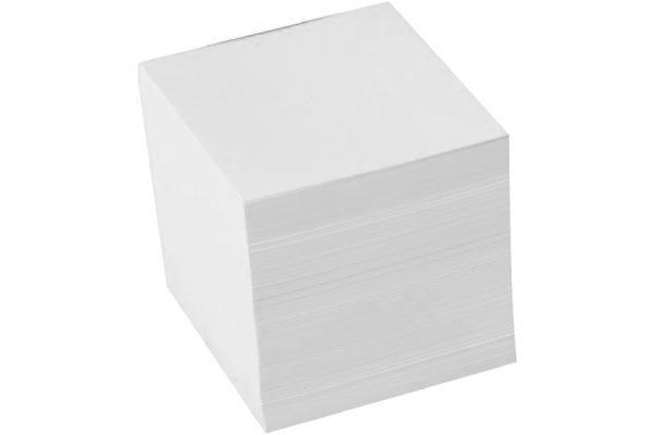 BÜROLINE Zettelbox Papier 98x98mm 376458 weiss, 80gr. 700 Blatt
