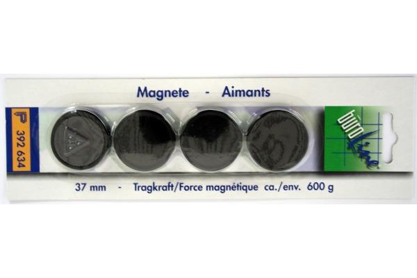 BÜROLINE Magnet 37 mm 392634 schwarz 4...