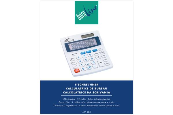 BÜROLINE Tischrechner 427503 12-stellig