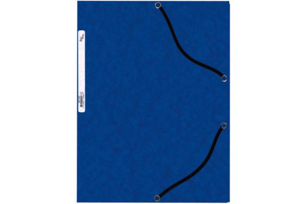 BÜROLINE Gummibandmappe A4 460694 blau, Karton