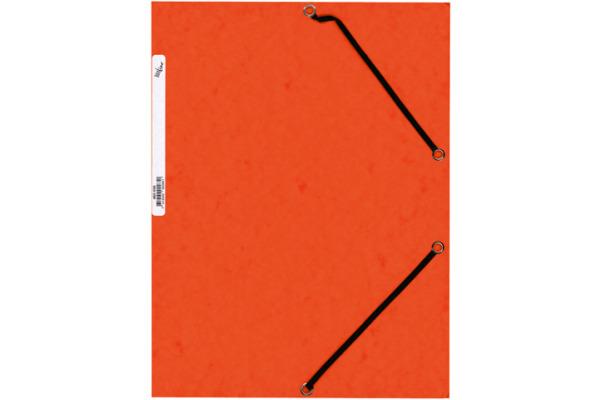 BÜROLINE Gummibandmappe A4 460696 orange, Karton