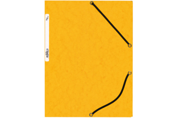 BÜROLINE Gummibandmappe A4 460698 gelb, Karton