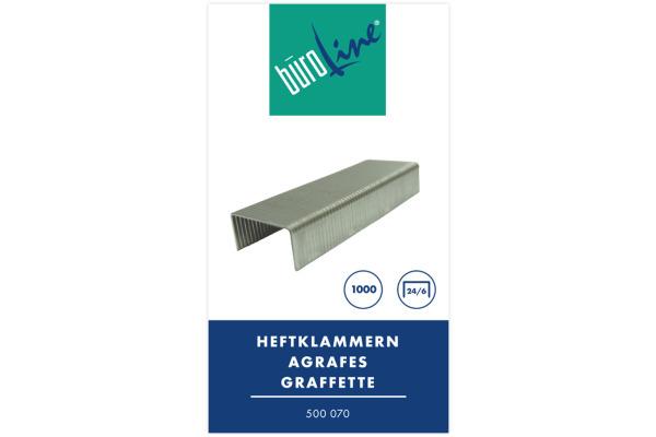 BÜROLINE Heftklammern 24/6mm 500070 1000 Stück