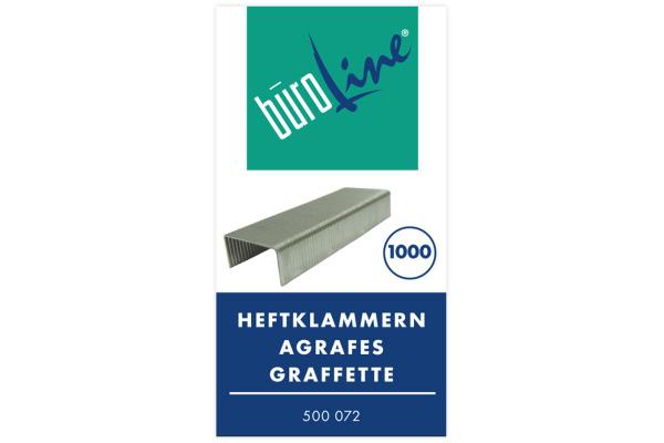BÜROLINE Heftklammern No.10 500072 1000 Stück