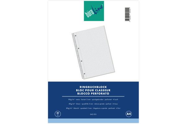 BÜROLINE Ringbuchblock A4 545015 kariert, 80g, 5mm 80 Blatt