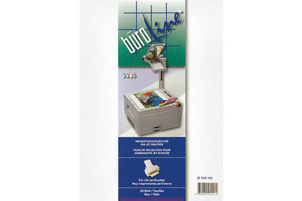 BÜROLINE Projektionsfolie A4 550105 für Inkjet Drucker 50 Blatt