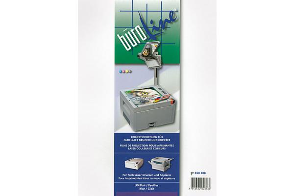 BÜROLINE Projektionsfolie A4 550108 für Farblaser Drucker 50 Blatt