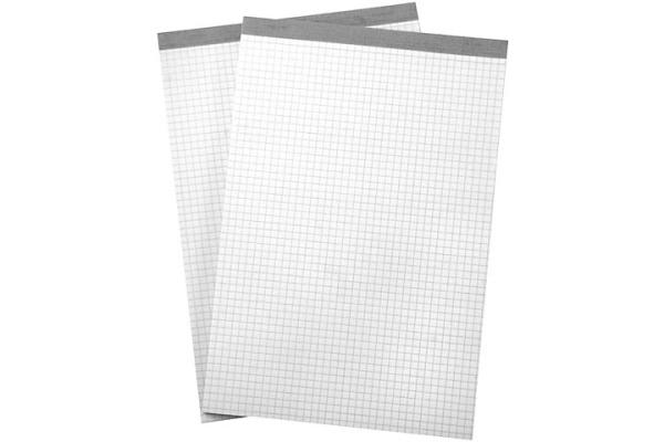 BÜROLINE Büroblock weiss A6 572003 kariert, 65g 2x100 Blatt