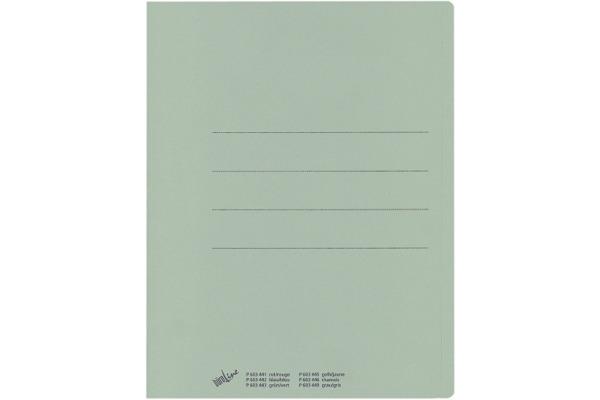 BÜROLINE Einlagemappe Recycling A4 603443 grün 100 Stück
