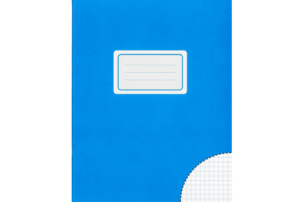 BÜROLINE Schulheft A4 610074 kariert ohne Rand blau