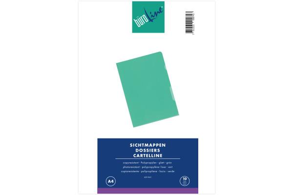 BÜROLINE Sichtmappen A4 620063 grün 10...