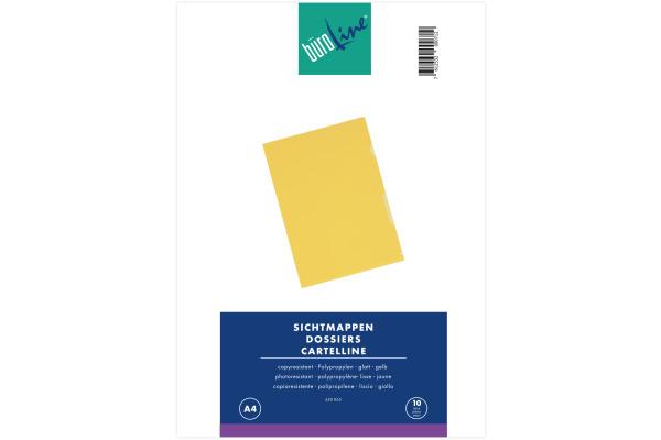 BÜROLINE Sichtmappen A4 620065 gelb 10...