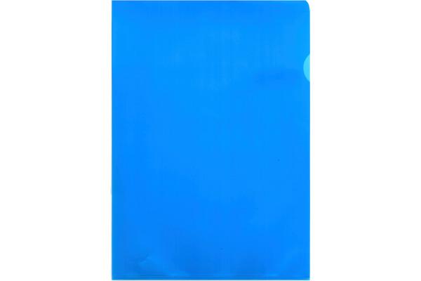 BÜROLINE Sichtmappen A4 620082 blau, matt 100...