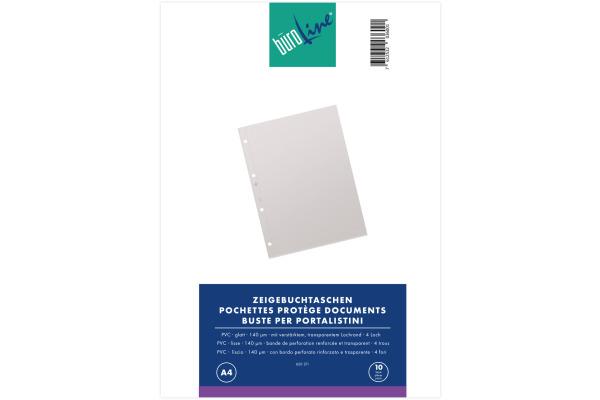 BÜROLINE Zeigetaschen PVC 140 my A4 620211...