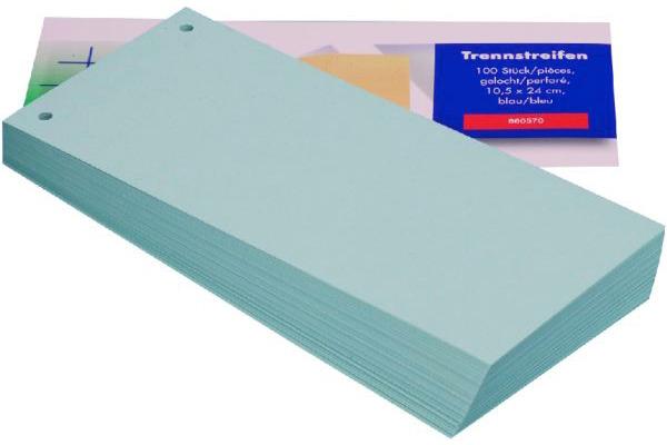 BÜROLINE Trennstreifen 10,5x24cm 660570 blau 100...