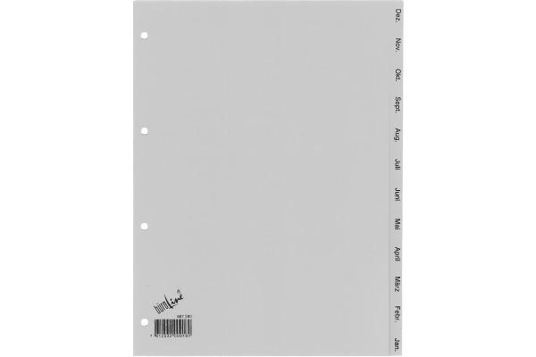 BÜROLINE Register PP grau A4 667280 Dez.-Jan.