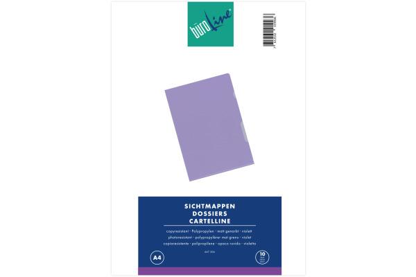 BÜROLINE Sichtmappen PP A4 667306 violett, matt...