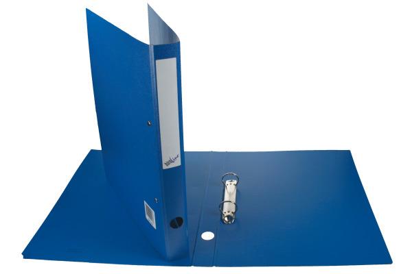 BÜROLINE Ringbuch A4 680002 blau 2 Ringe/3cm,...