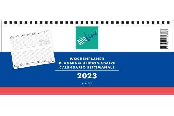 BÜROLINE Wochenplaner 890712 D/F/I/E, 2021