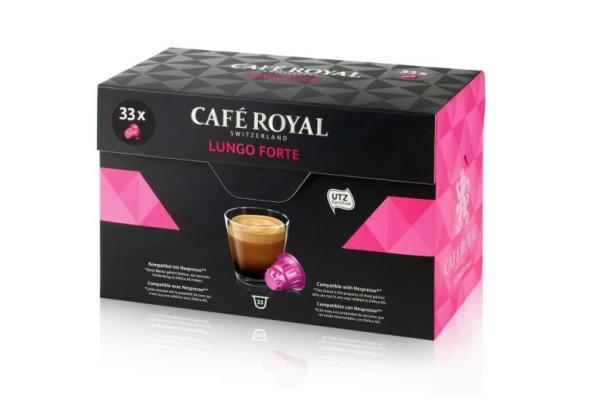 CAFEROYAL Kaffeekapseln 2001021 Lungo Forte 33 Stk.