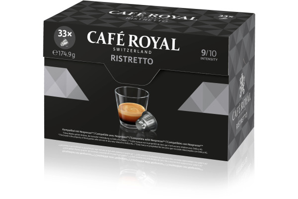 CAFEROYAL Kaffeekapseln 2001590 Ristretto 33 Stück