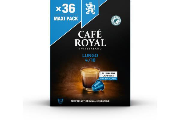 CAFEROYAL Kaffeekapseln Alu 2001926 Lungo 36 Stück