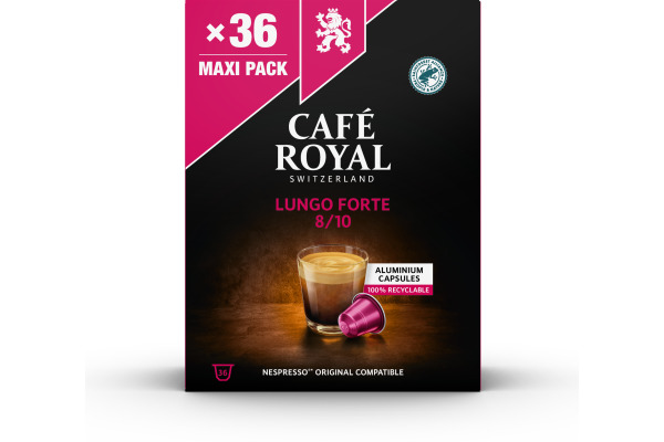CAFEROYAL Kaffeekapseln Alu 2001927 Lungo Forte 36 Stück