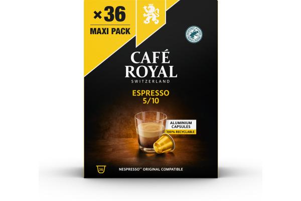 CAFEROYAL Kaffeekapseln Alu 2001928 Espresso 36 Stück