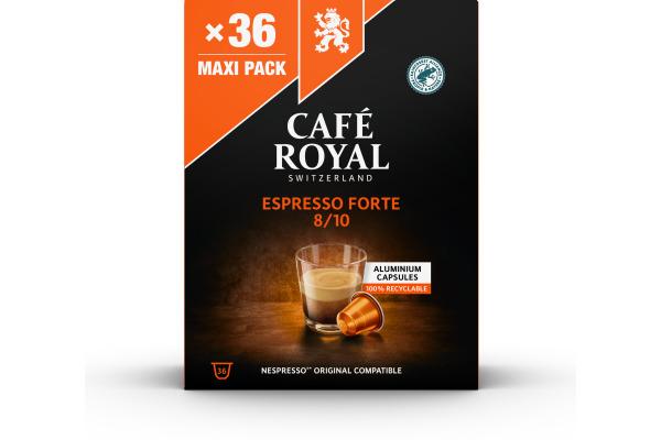 CAFEROYAL Kaffeekapseln Alu 2001929 Espresso Forte 36 Stück