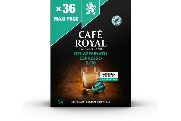CAFEROYAL Kaffeekapseln Alu 2001930 Espresso Decaffeinato 36 Stück
