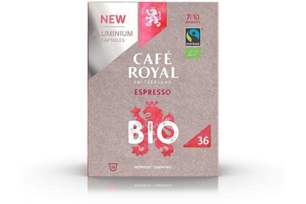 CAFEROYAL Kaffeekapseln Alu 2001931 Espresso Bio/Organic 36 Stück