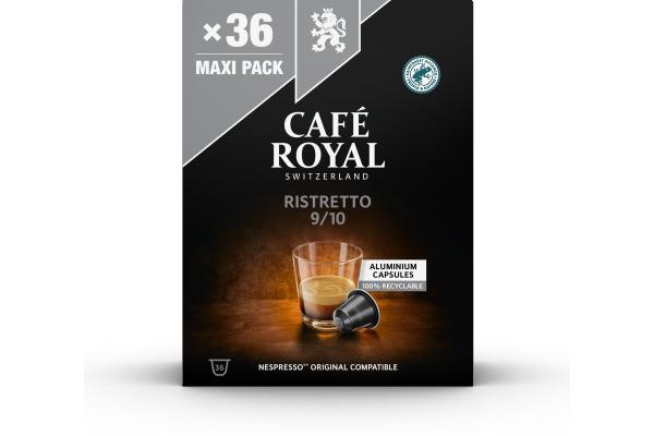 CAFEROYAL Kaffeekapseln Alu 2001932 Ristretto 36 Stück