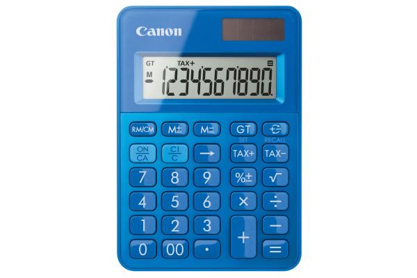 CANON Tischrechner LS-100K Blau CALS100KM 10-stellig, Metallic-Finish
