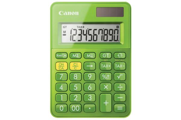 CANON Tischrechner LS-100K Grün CALS100KM 10-stellig, Metallic-Finish