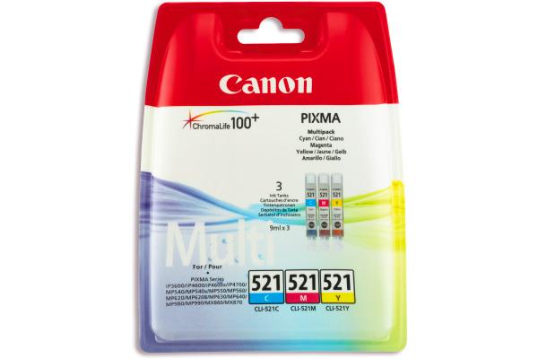 CANON Multipack Tinte CMY CLI-521PA PIXMA MP 980 3x9ml
