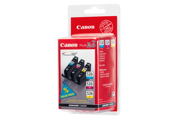 CANON Multipack Tinte CMY CLI-526PACK PIXMA iP 4850 3x9ml