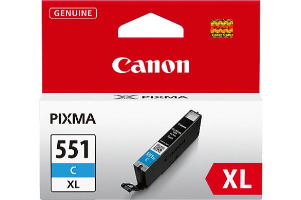 CANON Tintenpatrone XL cyan CLI-551XLC PIXMA MG5450 11ml