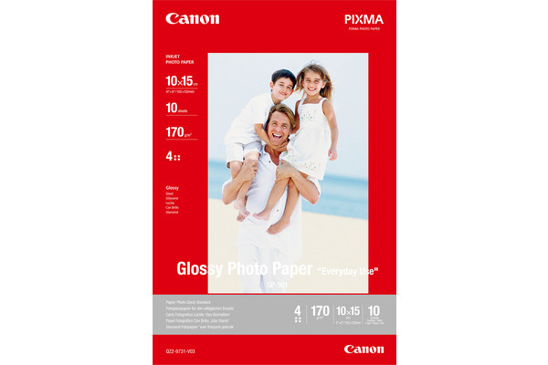 CANON Glossy Photo Paper 10x15cm GP5014x6 InkJet, Everyday 210g 10 Bl.